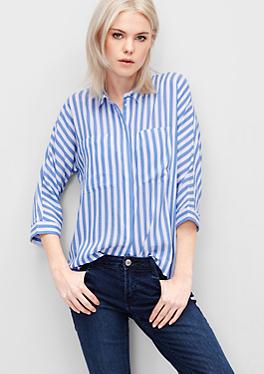 Kastige Streifen-Bluse von s.Oliver