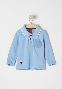 Longsleeve im Poloshirt-Style von s.Oliver