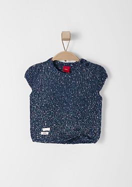 Melierter Kurzarm-Pullover von s.Oliver
