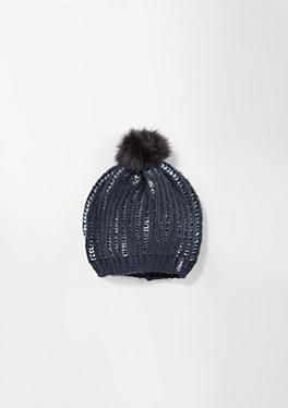 Mütze mit Kunstpelz-Bommel von s.Oliver