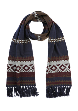 Muster-Schal mit Fransen von s.Oliver