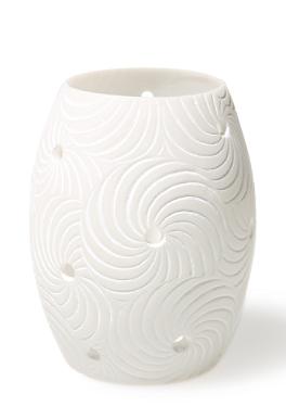 Ovales Windlicht mit Spiralen, klein von s.Oliver