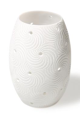 Ovales Windlicht mit Spiralen von s.Oliver