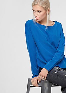 Oversize-Bluse aus tonigem Materialmix von s.Oliver