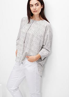 Oversize-Bluse mit Muster-Print von s.Oliver