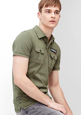 Poloshirt im Military-Look von s.Oliver