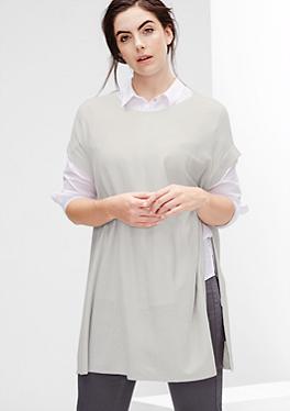 Poncho-Pullover aus Kaschmir-Mix von s.Oliver