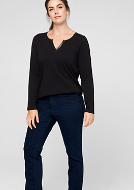 Regular: Dunkelblaue Stretch-Jeans von s.Oliver