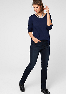 Regular: Dunkle Stretch-Jeans von s.Oliver