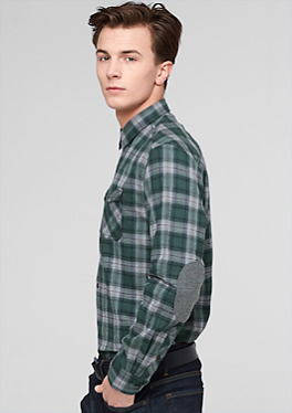 Regular: Hemd mit Ellbogen-Patches von s.Oliver