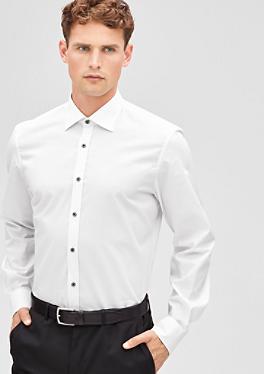Regular: Hemd mit Kontrast-Knöpfen von s.Oliver