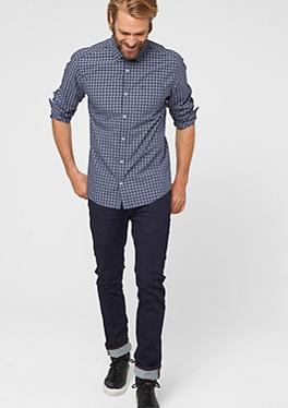 Regular: Kariertes Baumwollhemd von s.Oliver