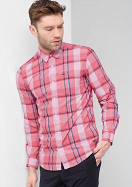 Regular: Modisch kariertes Hemd von s.Oliver
