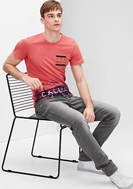 Rick Slim: Graue Used-Jeans von s.Oliver