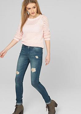 Sadie: Stretch-Jeans mit Extreme-Destroyes von s.Oliver