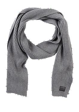 Schal aus Baumwoll-Rippstrick von s.Oliver