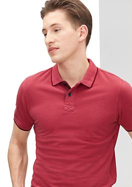 Schmales Poloshirt mit Rücken-Print von s.Oliver