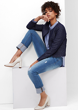Shape Skinny: Denim mit Destroyes von s.Oliver