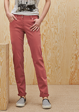 Shape Slim: Colored Stretch-Jeans von s.Oliver