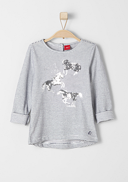 Shirt mit Pailletten-Pferdchen von s.Oliver