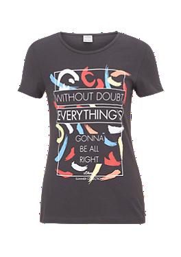 Shirt mit plakativem Print von s.Oliver