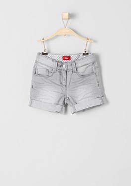 Shorts aus grauem Denim von s.Oliver