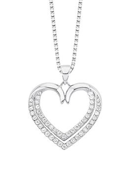 Silberkette mit Zirkonia-Herz von s.Oliver