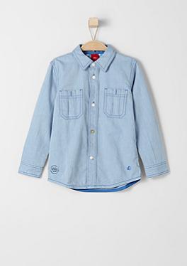 Slim: Hemd aus Baumwolltwill von s.Oliver