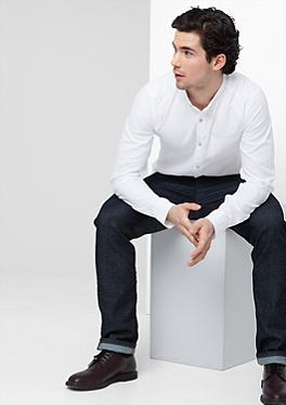 Slim: Hemd mit Stehkragen von s.Oliver
