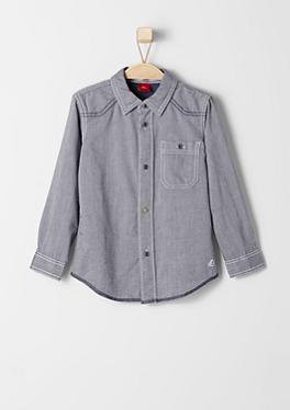 Slim: Hemd mit Webstruktur von s.Oliver