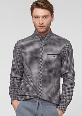 Slim: Kariertes Fischgrat-Hemd von s.Oliver