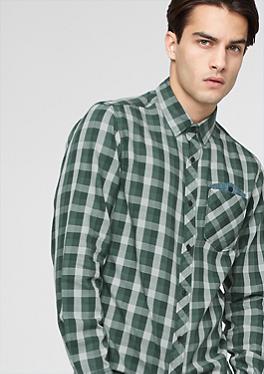 Slim: Kariertes Freizeithemd von s.Oliver