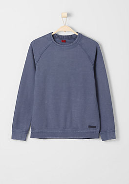 Slim: Struktur-Sweatshirt von s.Oliver
