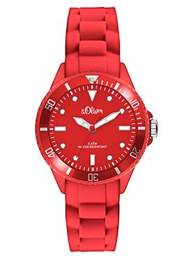 Sportive Armbanduhr mit Silikonband von s.Oliver
