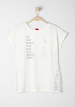 Statement-Shirt mit Spitze von s.Oliver