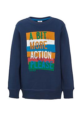 Sweater mit Statement-Print von s.Oliver