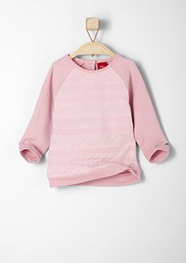 Sweatshirt mit Herz-Muster von s.Oliver
