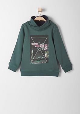 Sweatshirt mit Schalkragen von s.Oliver