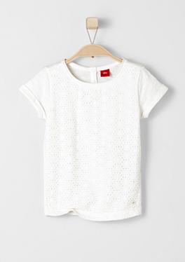 T-Shirt mit bestickter Front von s.Oliver
