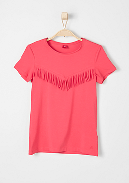 T-Shirt mit Fransen von s.Oliver