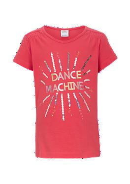 T-Shirt mit Glitzer-Print von s.Oliver