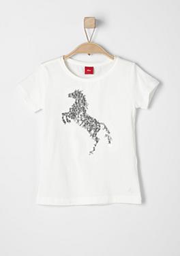 T-Shirt mit Pailletten-Applikation von s.Oliver