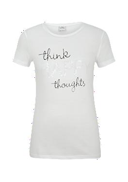 T-Shirt mit Pailletten-Schriftzug von s.Oliver