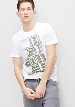 T-Shirt mit Spiegelschrift von s.Oliver
