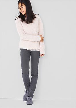 Treggings: Stretch-Jeans mit Sitzfalten von s.Oliver