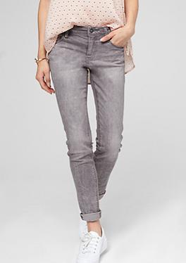 tube graue stretch jeans im s oliver online shop. Black Bedroom Furniture Sets. Home Design Ideas