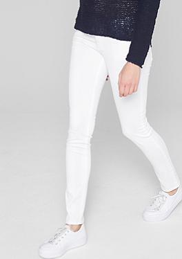 Tube: Weiße Stretch-Jeans von s.Oliver