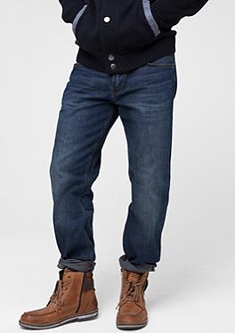 straight jeans f r herren bequem im s oliver online shop. Black Bedroom Furniture Sets. Home Design Ideas