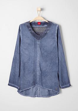 Vokuhila-Bluse mit Spitze von s.Oliver