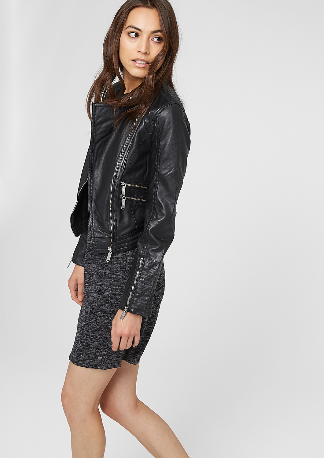 Buy women's leather & imitation leather jackets quickly and easily